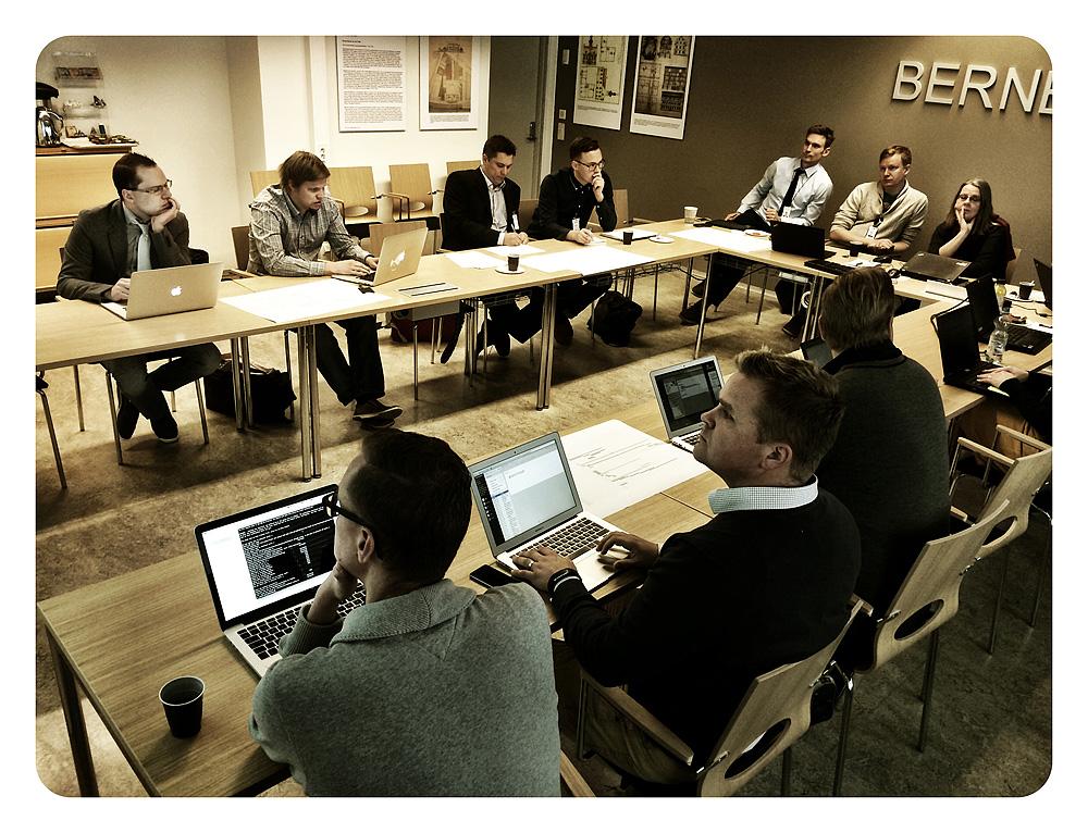 Verkkopalvelutoimittajat Turussa syyskuussa 2014