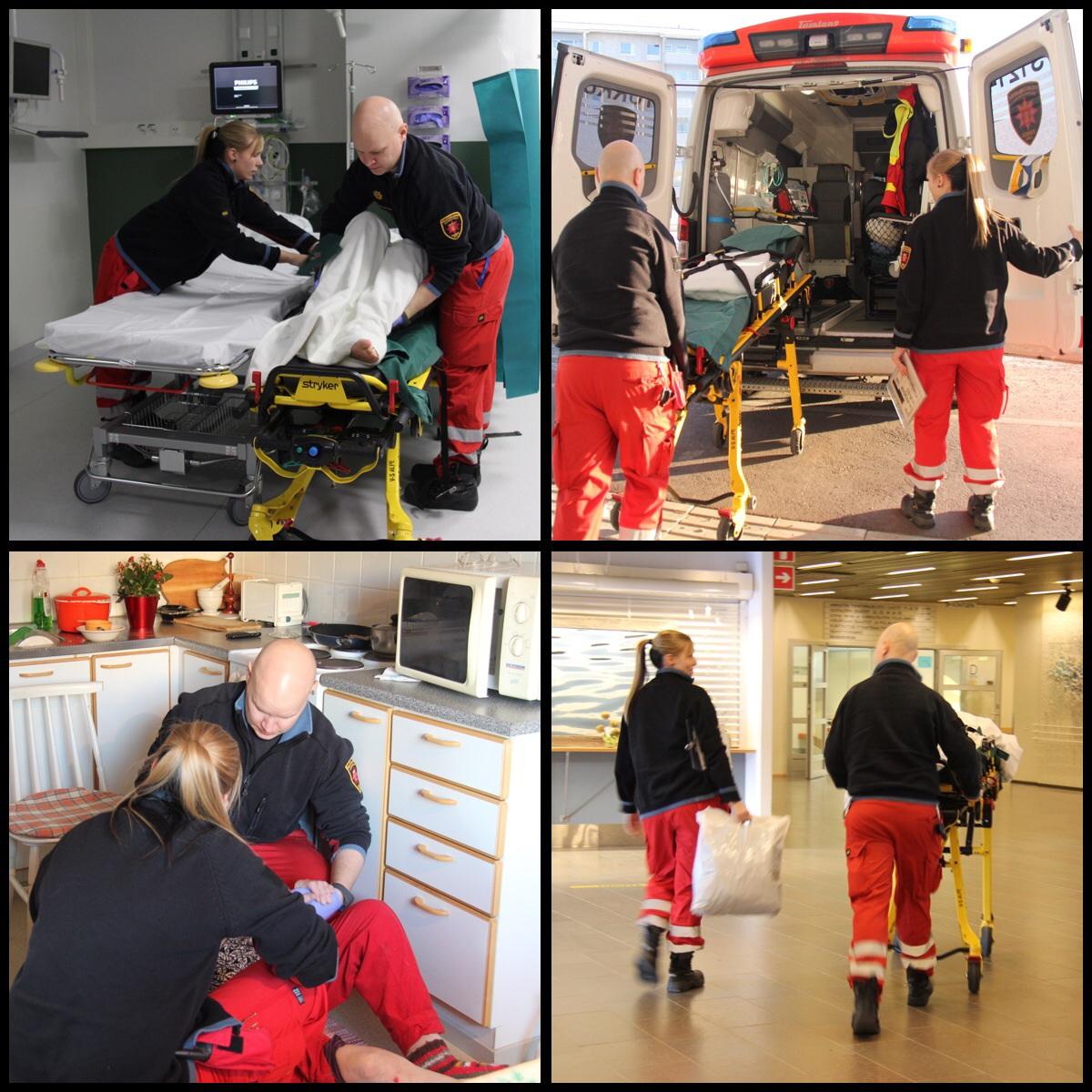 Suurin osa ensihoitajan työtehtävistä on kiireettömiä sairaalasiirtoja.